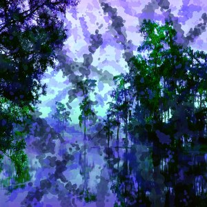 """Lavender Mist (for Jackson Pollock)"" - Lavender mist happens every morning around 6AM over in the swamp. Dancing around things ain't nothing special over here, either, especially paintings. At Fais do-do's (FAY-DOH-DOH) which literally means ""making sleep"", parents who needed to pass a good time would get together and have dance parties while their children slept. Take that Jackson! Trying dancing around a sleeping child in a drunken state of chanky-chank ecstasy, and see how that goes for ya. If ya were here back then, maybe ya would have discovered your drip a little sooner."